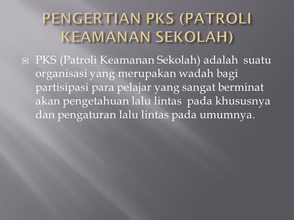 PPKS (Patroli Keamanan Sekolah) adalah suatu organisasi yang merupakan wadah bagi partisipasi para pelajar yang sangat berminat akan pengetahuan lalu lintas pada khususnya dan pengaturan lalu lintas pada umumnya.