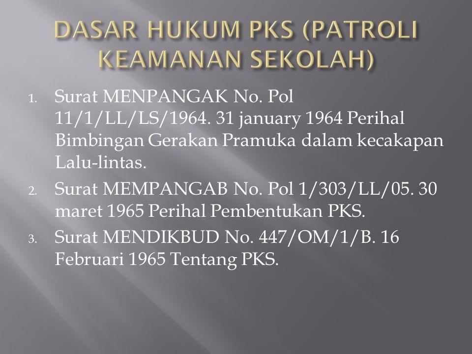1.Surat MENPANGAK No. Pol 11/1/LL/LS/1964.
