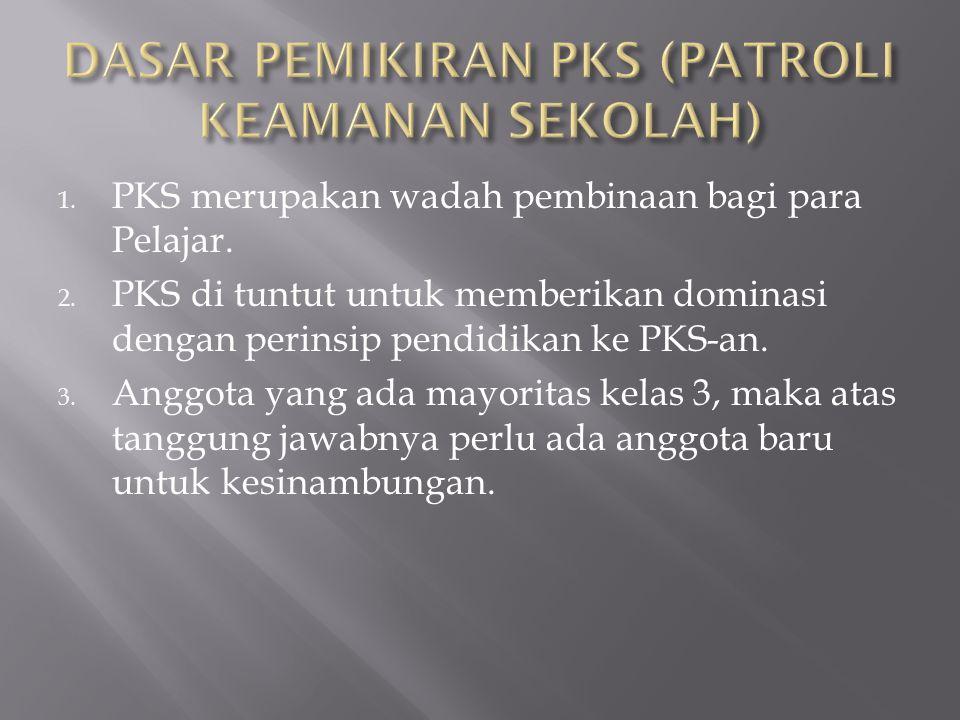 1.PKS merupakan wadah pembinaan bagi para Pelajar.