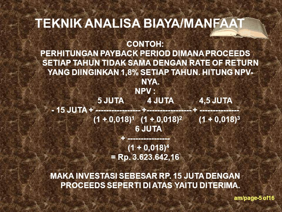 am/page-16 of16 JIKA RATA-RATA PESANAN TIAP TAHUN : Rp.