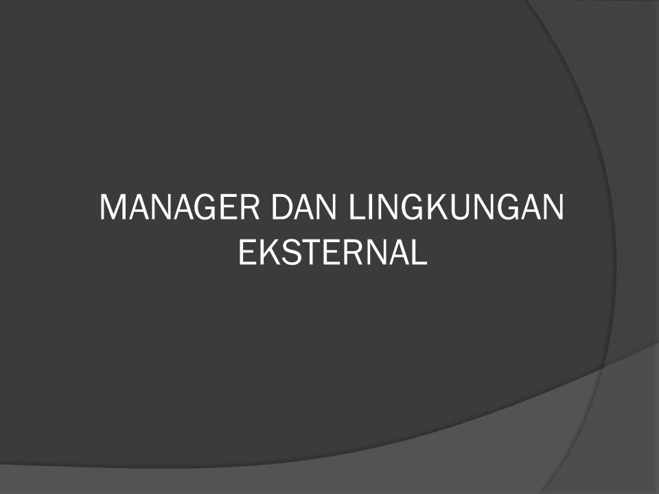 MANAGER DAN LINGKUNGAN EKSTERNAL