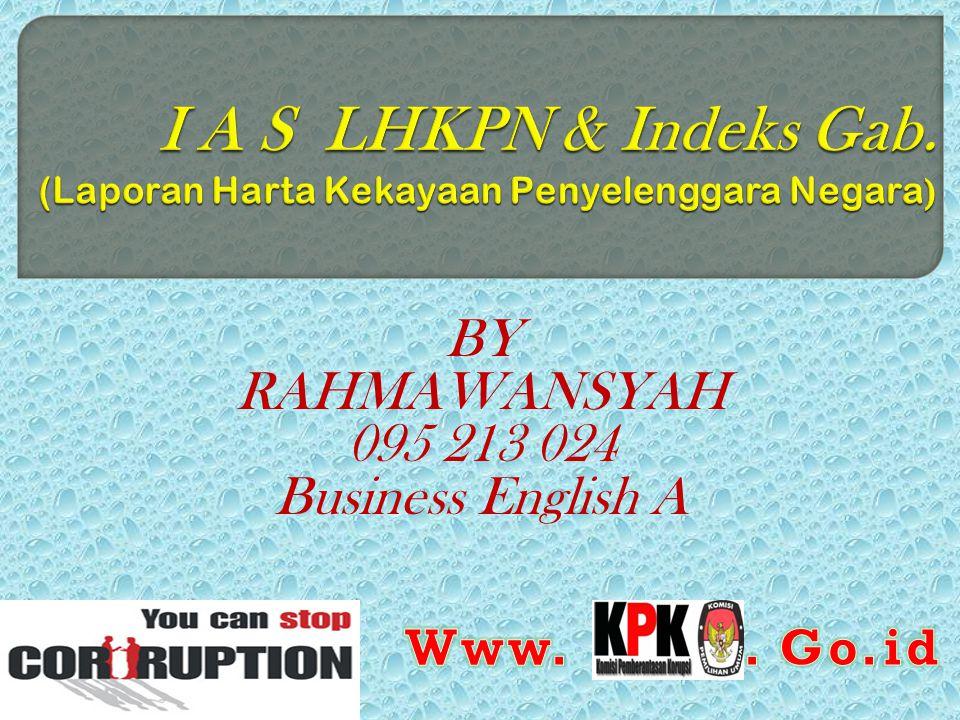BY RAHMAWANSYAH 095 213 024 Business English A