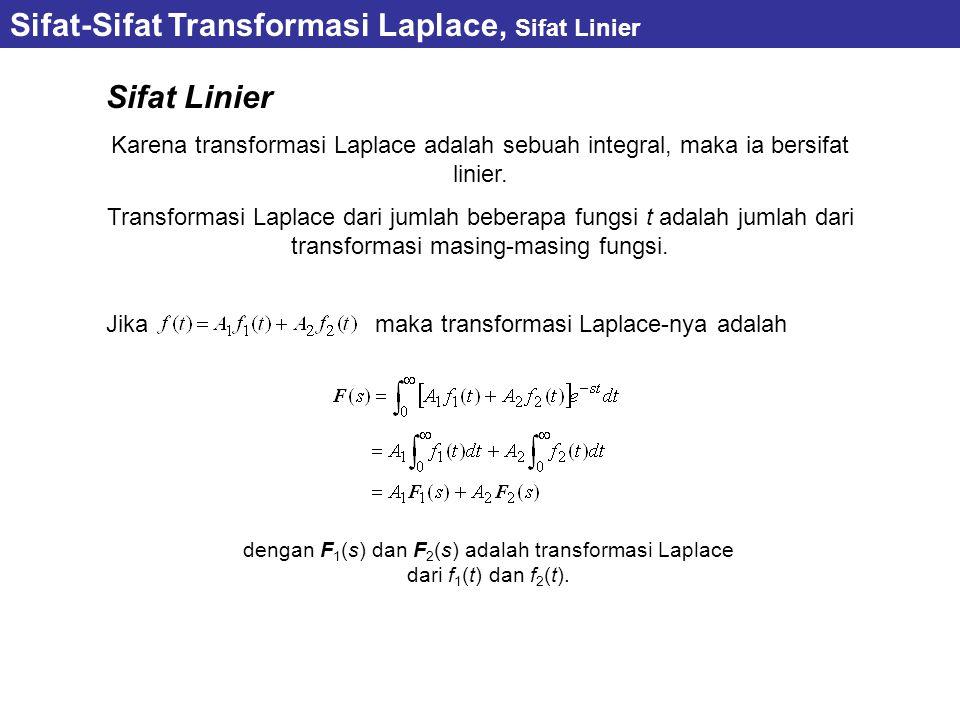 Sifat Linier Karena transformasi Laplace adalah sebuah integral, maka ia bersifat linier.