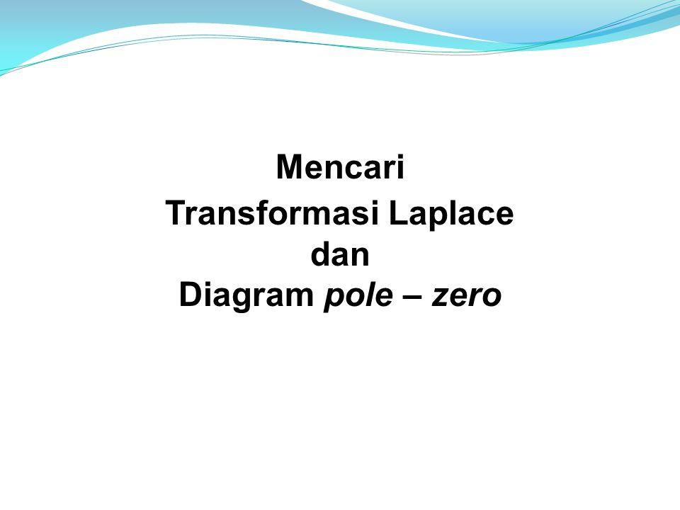 Mencari Transformasi Laplace dan Diagram pole – zero