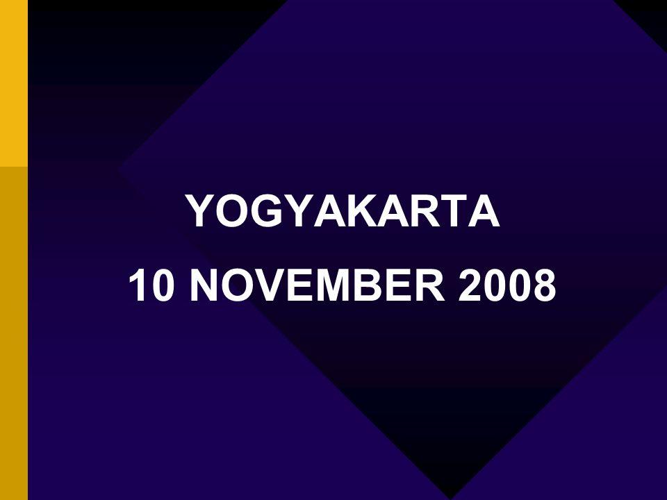 YOGYAKARTA 10 NOVEMBER 2008