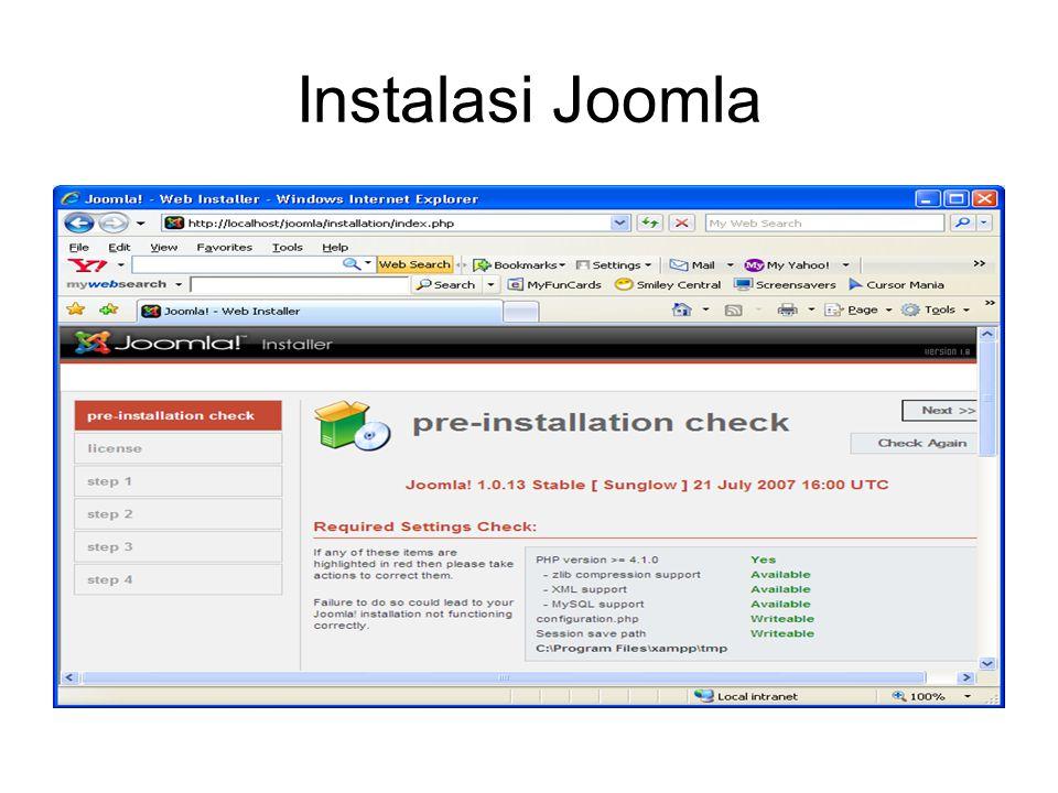 Instalasi Joomla