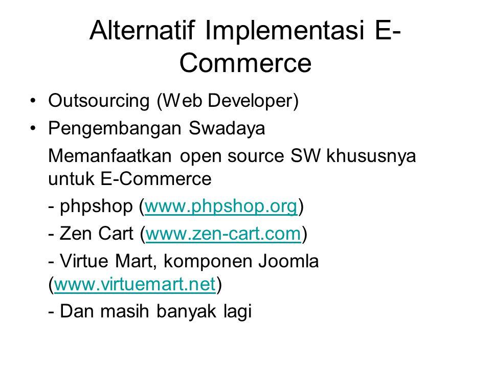 Alternatif Implementasi E- Commerce Outsourcing (Web Developer) Pengembangan Swadaya Memanfaatkan open source SW khususnya untuk E-Commerce - phpshop