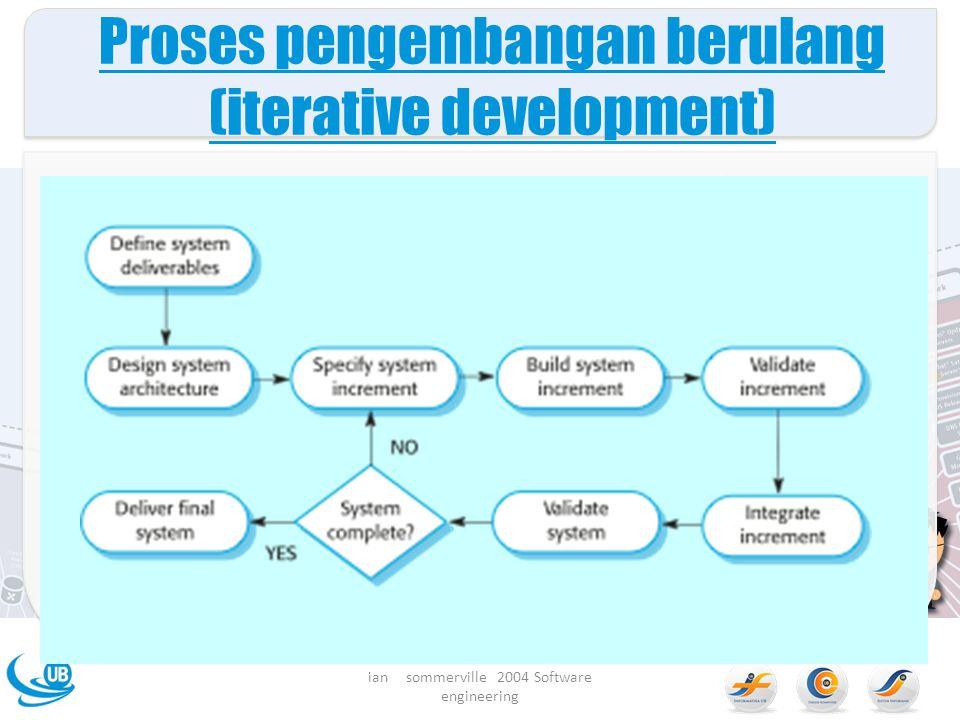 Proses pengembangan berulang (iterative development) ian sommerville 2004 Software engineering