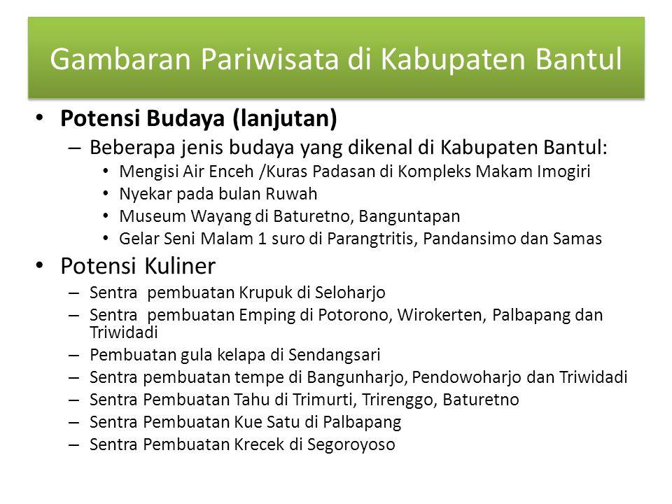 Gambaran Pariwisata di Kabupaten Bantul Potensi Budaya (lanjutan) – Beberapa jenis budaya yang dikenal di Kabupaten Bantul: Mengisi Air Enceh /Kuras P