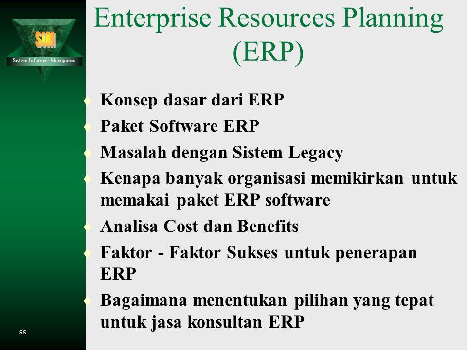 Sistem Informasi Manajemen SS Pengembangan Sistem Informasi  Perencanaan untuk perubahan bisnis dengan Teknologi Informasi  Peranan perencanaan sist