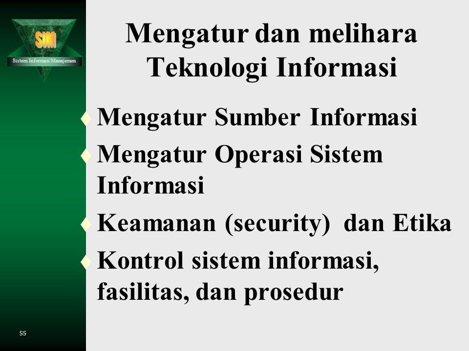 Sistem Informasi Manajemen SS Enterprise Resources Planning (ERP) t Konsep dasar dari ERP t Paket Software ERP t Masalah dengan Sistem Legacy t Kenapa
