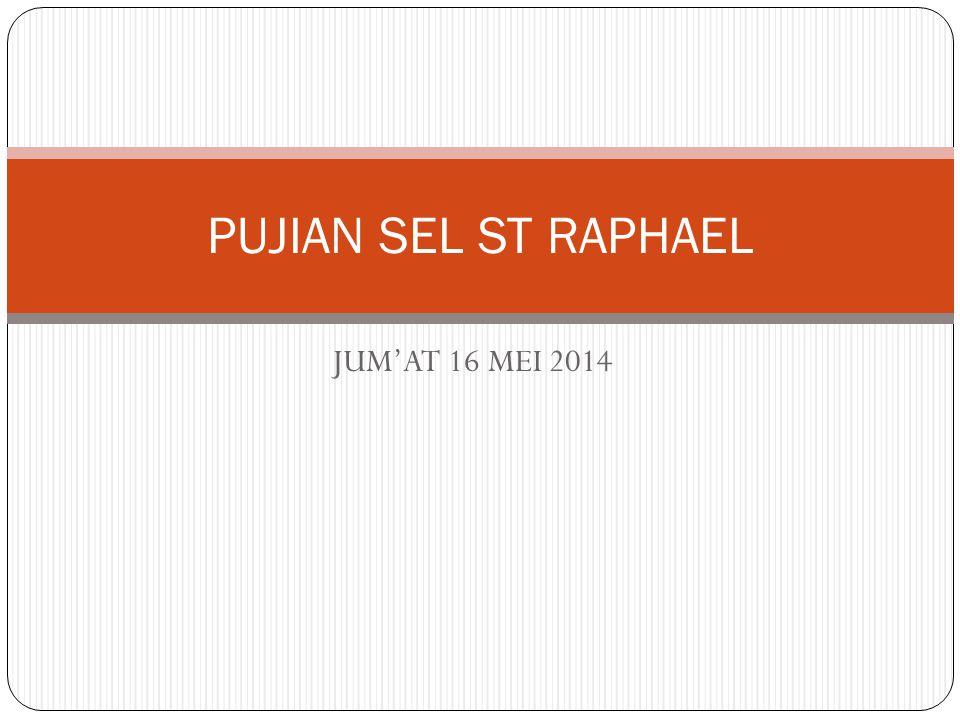 JUM'AT 16 MEI 2014 PUJIAN SEL ST RAPHAEL