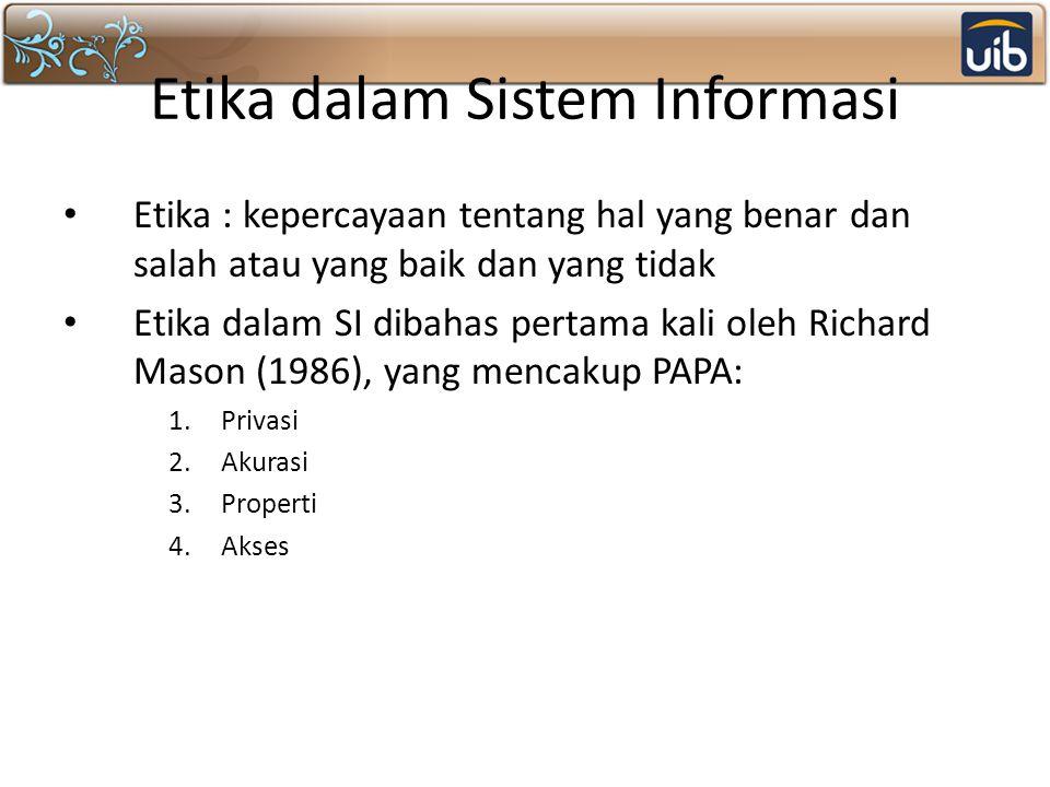 Keamanan Sistem Informasi.