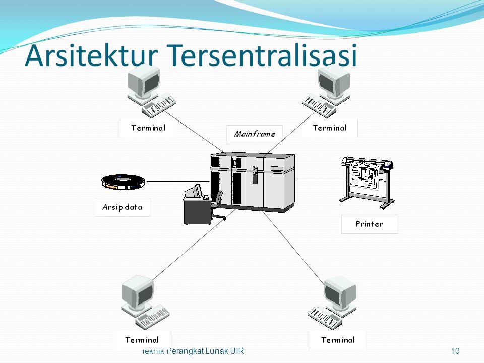 Arsitektur Tersentralisasi Teknik Perangkat Lunak UIR10