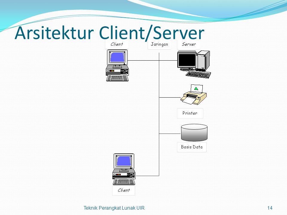 Arsitektur Client/Server Teknik Perangkat Lunak UIR14