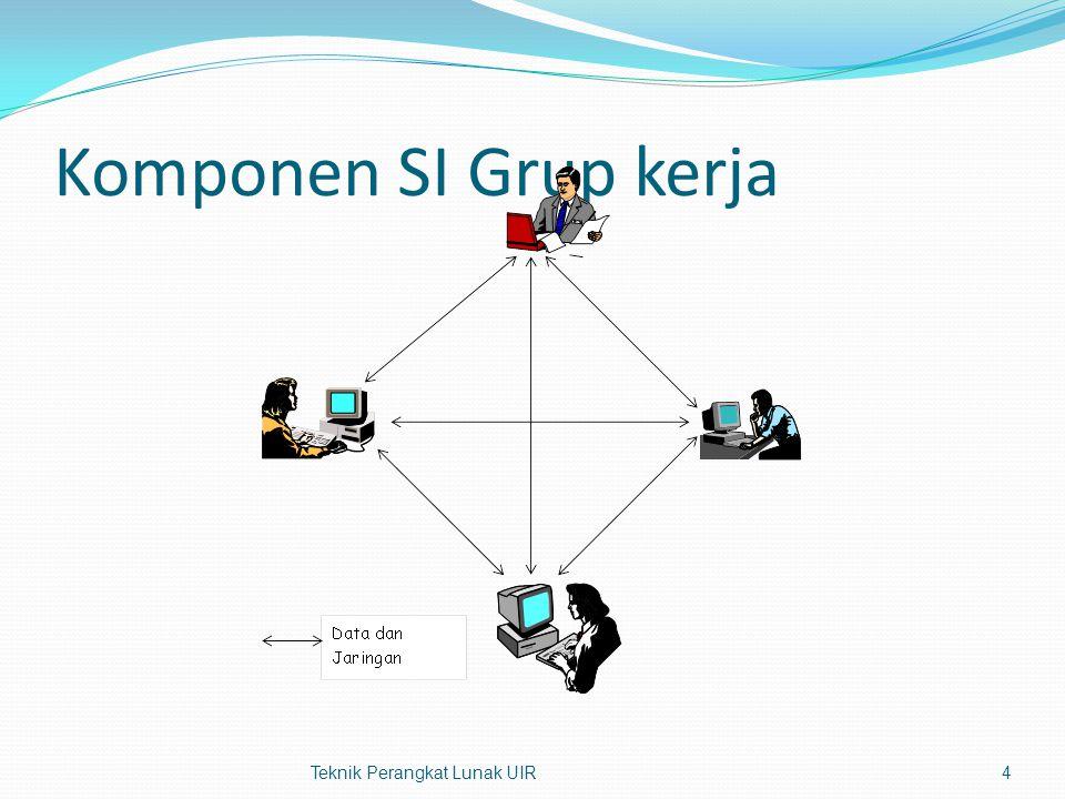 Komponen SI Grup kerja Teknik Perangkat Lunak UIR4