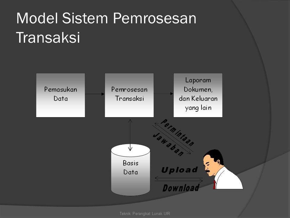 Model Sistem Pemrosesan Transaksi Teknik Perangkat Lunak UIR