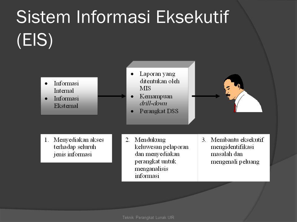 Sistem Informasi Eksekutif (EIS) Teknik Perangkat Lunak UIR