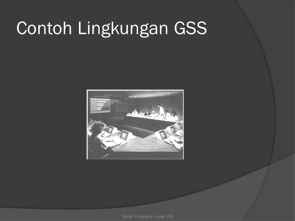 Contoh Lingkungan GSS Teknik Perangkat Lunak UIR