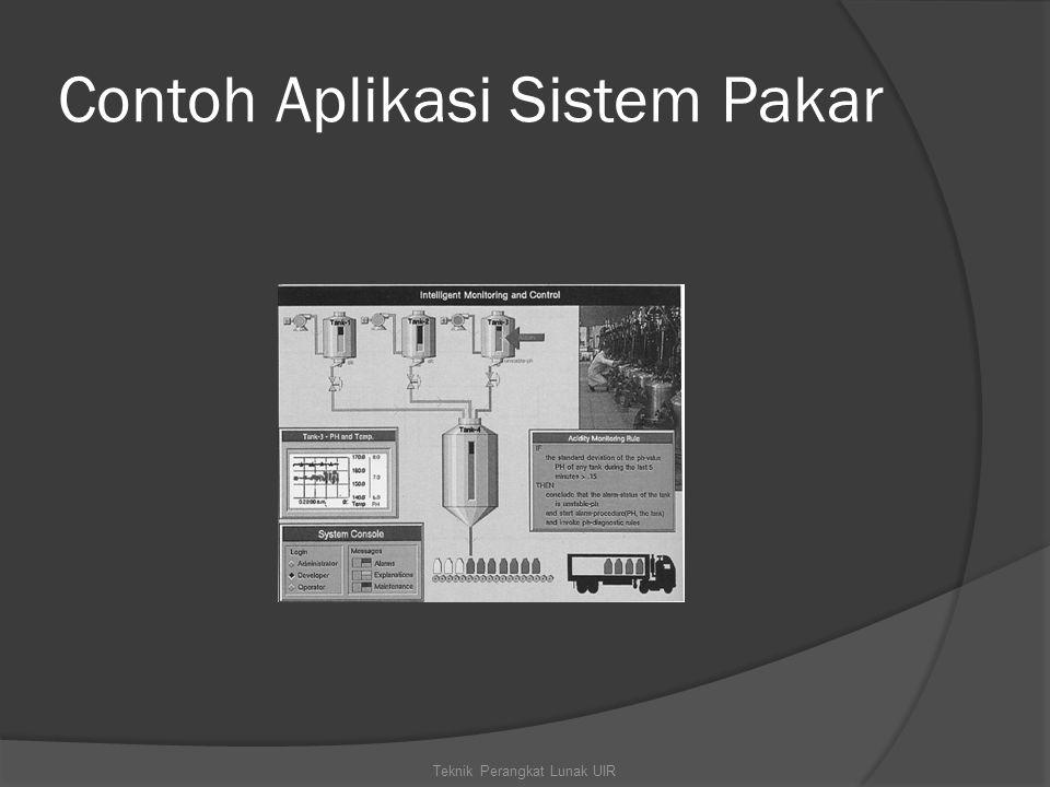 Contoh Aplikasi Sistem Pakar Teknik Perangkat Lunak UIR