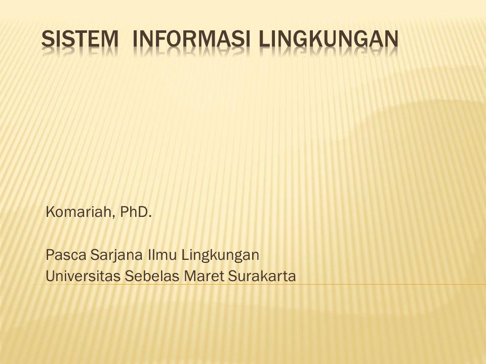 Komariah, PhD. Pasca Sarjana Ilmu Lingkungan Universitas Sebelas Maret Surakarta