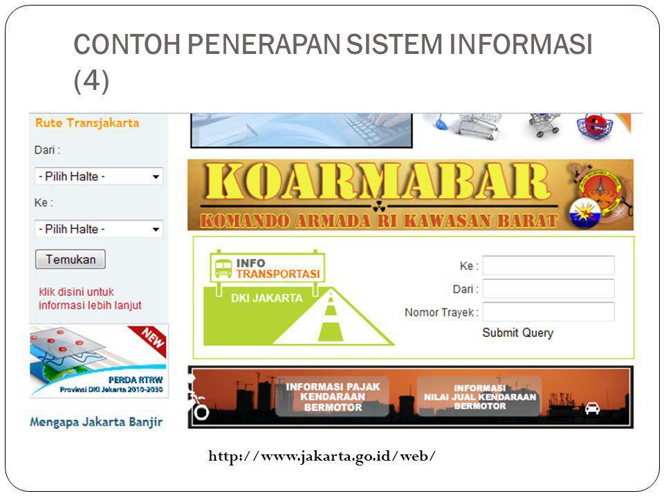 CONTOH PENERAPAN SISTEM INFORMASI (4) http://www.jakarta.go.id/web/