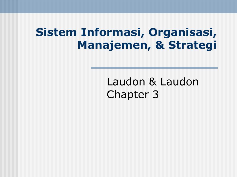 Sistem Informasi, Organisasi, Manajemen, & Strategi Laudon & Laudon Chapter 3