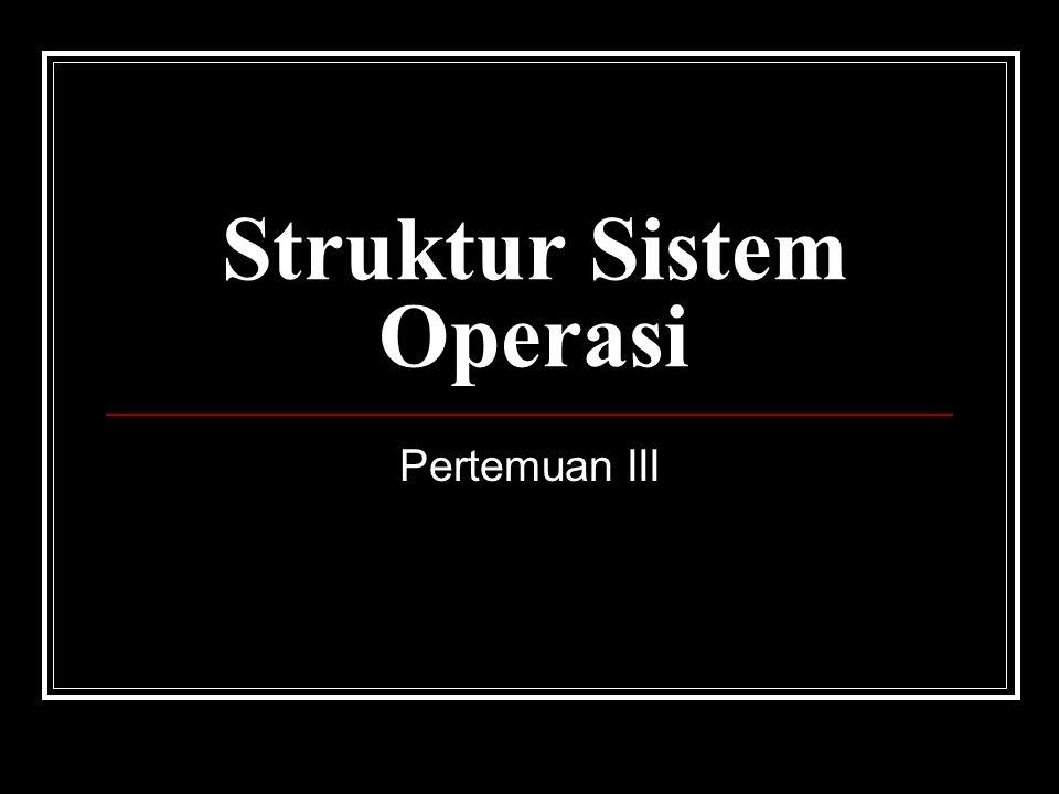 Struktur Sistem Operasi Pertemuan III
