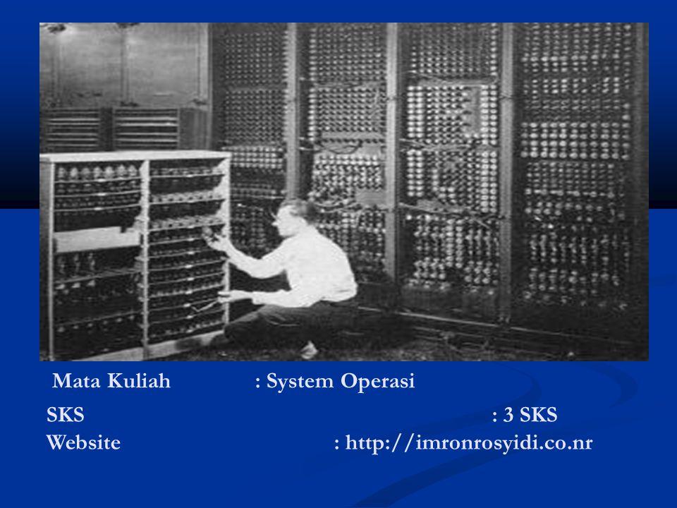 Mata Kuliah: System Operasi SKS : 3 SKS Website : http://imronrosyidi.co.nr