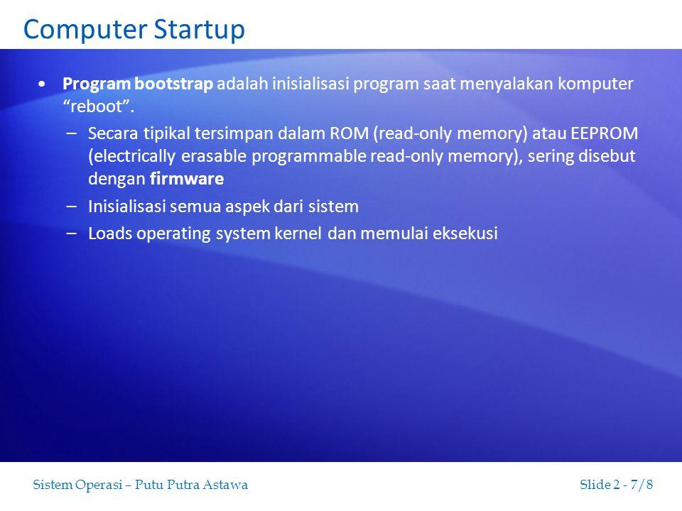 Slide 2 - 8/8Sistem Operasi – Putu Putra Astawa