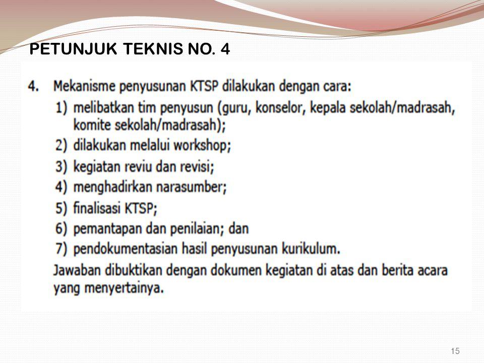 PETUNJUK TEKNIS NO. 4 15