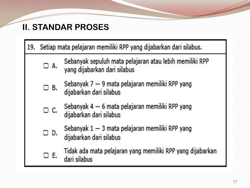 II. STANDAR PROSES 17