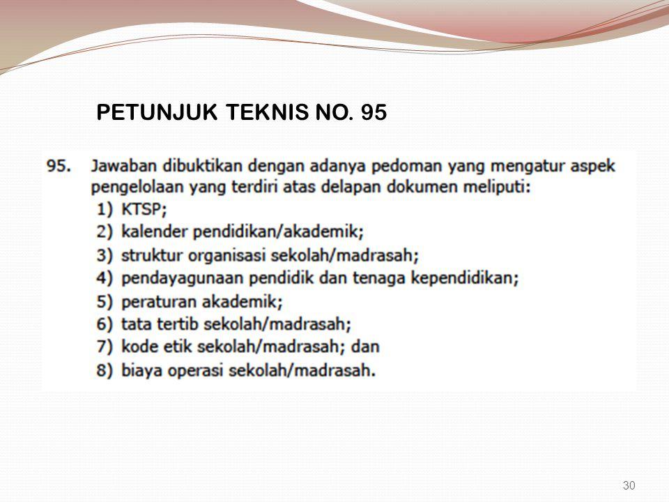 PETUNJUK TEKNIS NO. 95 30