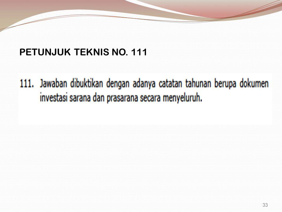 PETUNJUK TEKNIS NO. 111 33