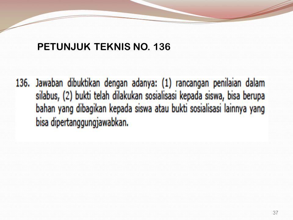 PETUNJUK TEKNIS NO. 136 37