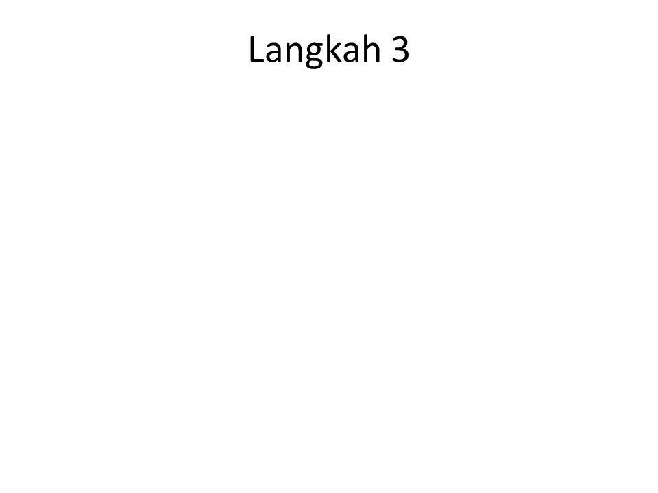 Langkah 1 Dicari Jangkauan (range) J = Xmaks – Xmin 119125126128132135135135 136138138140140142142144 144145145146146147147148 14915015015215215415615