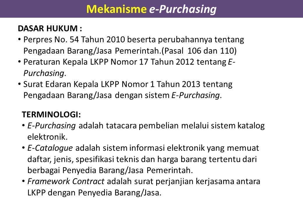 DASAR HUKUM : Perpres No. 54 Tahun 2010 beserta perubahannya tentang Pengadaan Barang/Jasa Pemerintah.(Pasal 106 dan 110) Peraturan Kepala LKPP Nomor