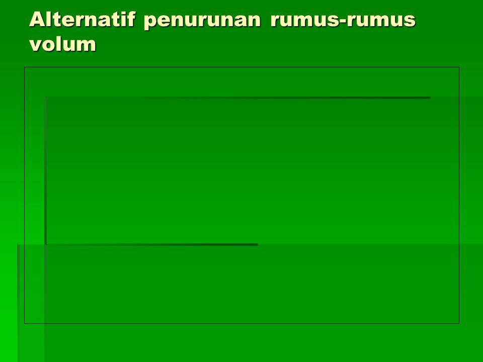 Alternatif penurunan rumus-rumus volum
