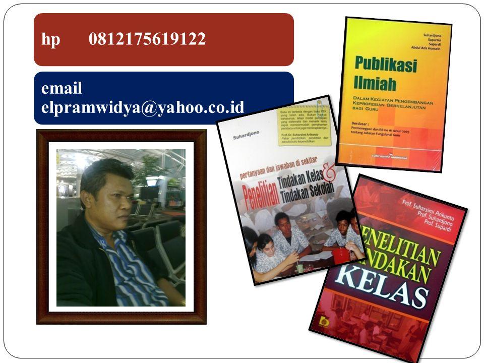 hp 0812175619122 email elpramwidya@yahoo.co.id 2
