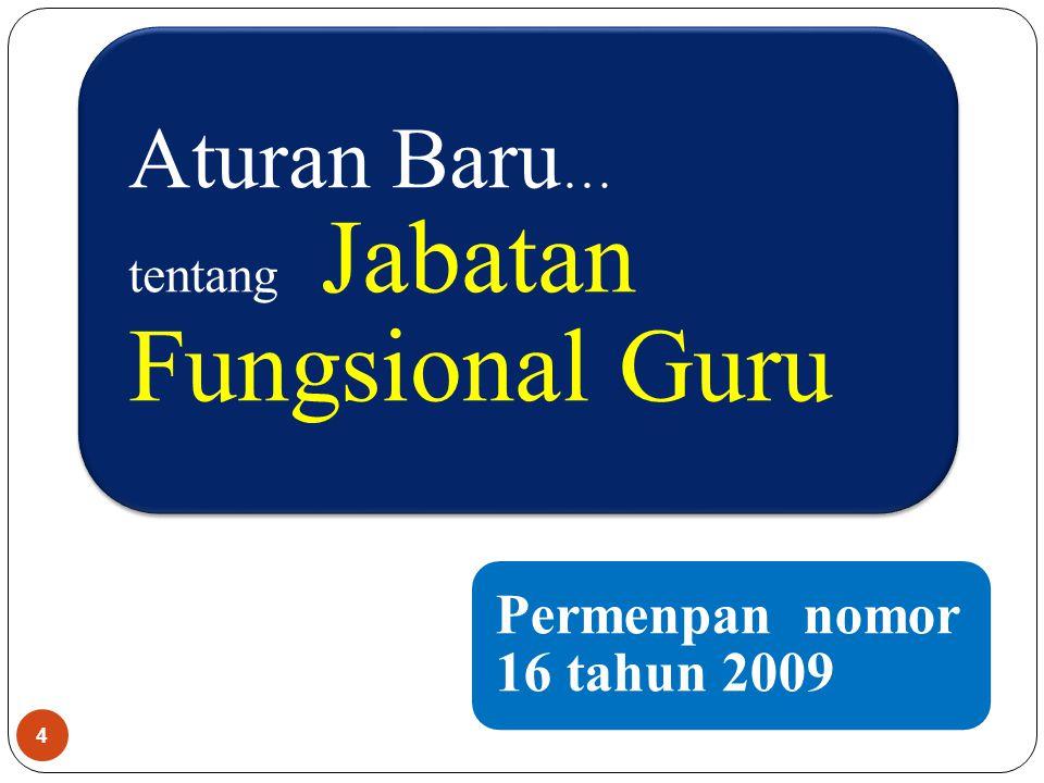 Aturan Baru … tentang Jabatan Fungsional Guru 4 Permenpan nomor 16 tahun 2009