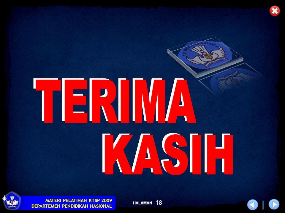 HALAMAN MATERI PELATIHAN KTSP 2009 DEPARTEMEN PENDIDIKAN NASIONAL 18