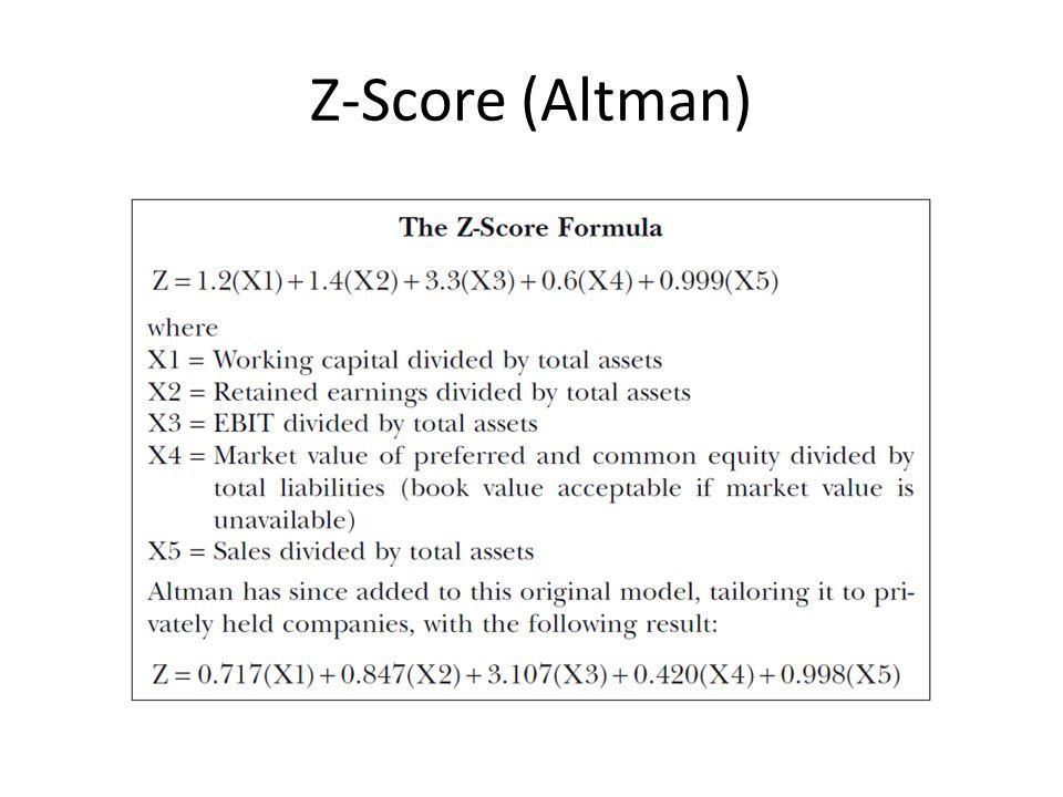 Z-Score (Altman)