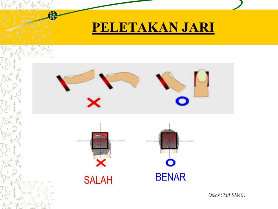 Quick Start SM401 PELETAKAN JARI SALAH BENAR
