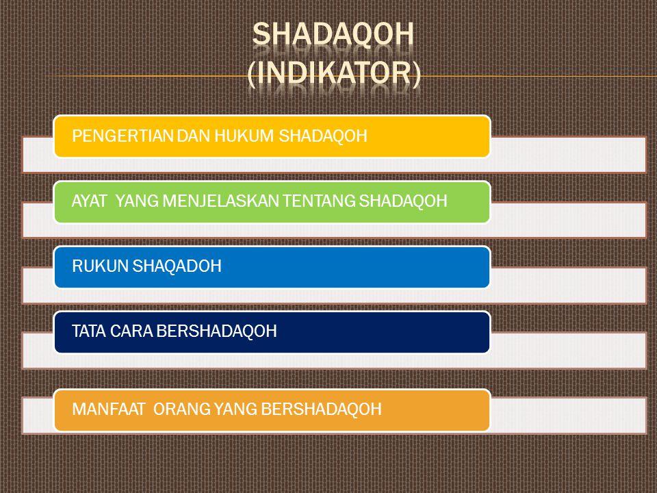 MENGELUARKAN HARTA DILUAR ZAKAT SHADAQOHHIBAHHADIAH