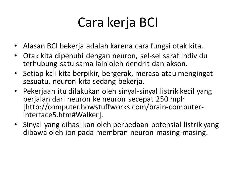 Cara kerja BCI (Cont'd)