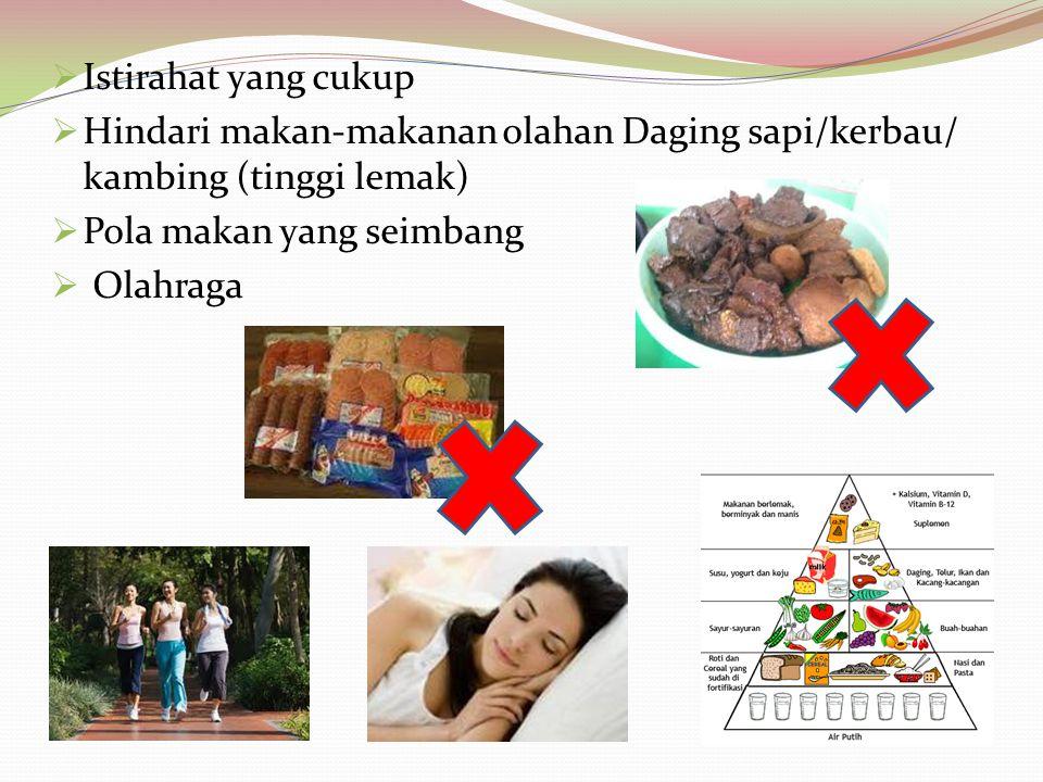 Apa yang harus dilakukan jika mengalami TEKANAN DARAH TINGGI?  Minum obat anti darah tinggi sesuai nasehat Dokter  Turunkan kelebihan berat badan 