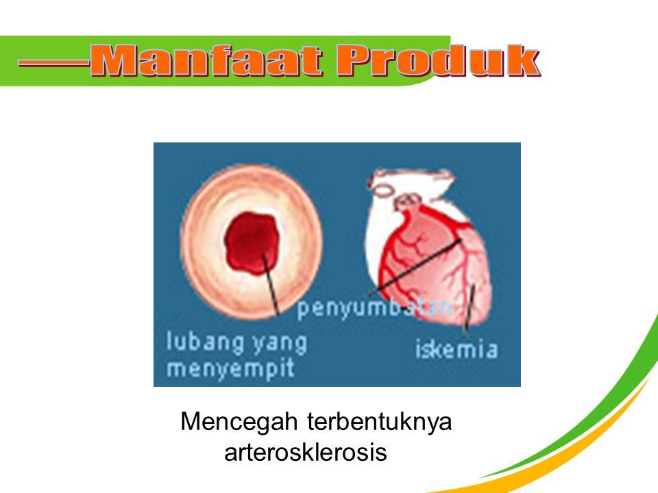 Mencegah terbentuknya arterosklerosis