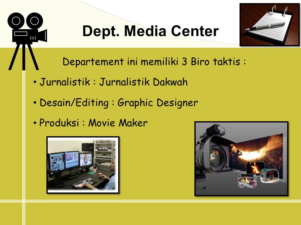 Jurnalistik : Pelatihan Jurnalistik oleh tenaga pengajar yang berpengalaman dan berkompeten.