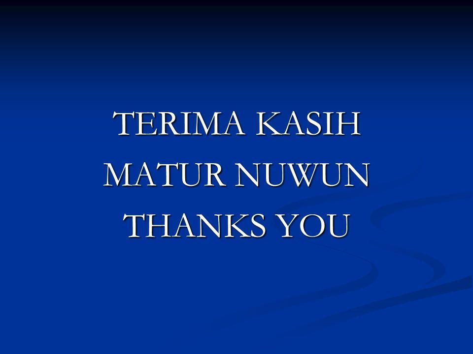 TERIMA KASIH MATUR NUWUN THANKS YOU
