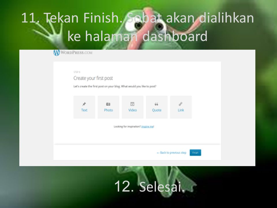 10. Klik Next Step lagi.